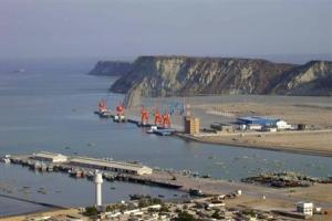 A general view of Pakistan's Gwadar deep-sea port on the Arabian Sea